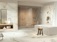 Wall/floor tiles with marble effect MARBLETECH CALACATTA - CERAMICA FONDOVALLE