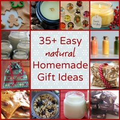 35 plus easy natural homemade gift ideas @Melissa Family Today