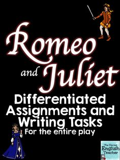 """This download includes activities and writing assignments for every act of William Shakespeare's drama, """"The Tragedy of Romeo and Juliet."""" ESL differentiation is also included."""