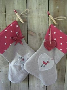 rHandmade Personalised Linen Christmas Stocking by Ticketty Boo