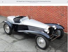 1938 Bulgatti Boatail Speedster