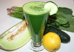 Heavenly Honeydew Juice--Joe Cross juice recipes  Ingredients: 1 handful of spinach with stems (350 g. was the weight of half my bunch from the market) ¼ of a honeydew, rind removed 1 cucumber 1 lemon, peeled