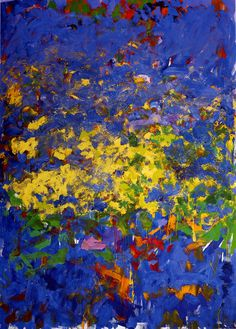 Bleu et or... / Expressionnisme abstrait. / By Joan Mitchell.