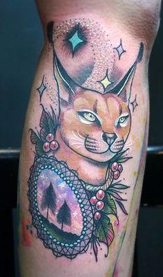 Cat lynx tattoo
