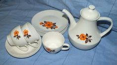 Pioneer Porcelain - Cups Saucers, Coffee Pot, Sugar and Milk Jug Set in the South African Porcelain category was listed for on 15 Jul at by amazingfindz in Nelspruit Milk Jug, Cup And Saucer, Cups, Porcelain, Sugar, Coffee, Antiques, Stuff To Buy, Kaffee