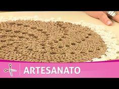 Vida com Arte | Sousplat com fixa em crochê por Glaucia Tamiossi - 08 de Setembro de 2016 - YouTube