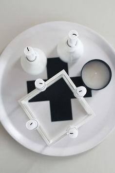 Via Pia Wallen | Tray | Black and White | Nordic Scandinavian