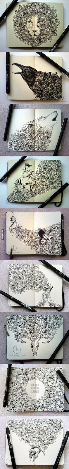 I love this inricate pen art
