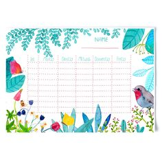 Stundenpläne - Stundenplan *Sommer* - ein Designerstück von Frau-Ottilie bei DaWanda