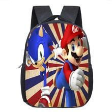 bc2d5b2d80 Cartoon Mario   Sonic Backpack Children School Bags Baby Toddler Backpack  Kids Kindergarten Bag Boys Girls