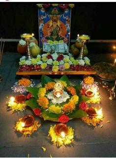 Varalakshmi Vratham Decoration Ideas Best Of Hd Wallpaper Mandir Decoration, Ganapati Decoration, Decoration For Ganpati, Diy Decoration, Diwali Decorations At Home, Festival Decorations, Flower Decorations, Diwali Pooja, Diwali Diya