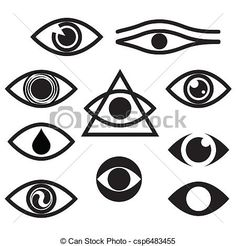 Clipart Vector of eye - character set - eyes csp6483455 - Search ...