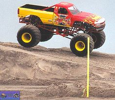 Monster truck pictures and information in a monster truck photo album which consists of over 850 full sized Monster truck Big Monster Trucks, Monster Car, Big Trucks, Chevy Trucks, Truck And Tractor Pull, Tractor Pulling, Clash Of The Titans, Digger, Mud