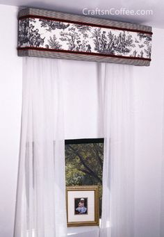 how to make living room window cornices