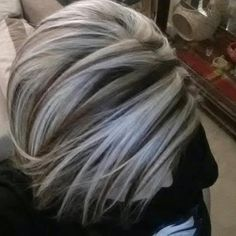 Gallery For > Brown Hair With Chunky Platinum Highlights