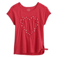 SO Sequin Lace Heart Tee - Girls 7-16