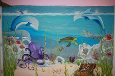 underwater theme bedroom ideas | Bedroom Wall Murals Outdoor Scenes