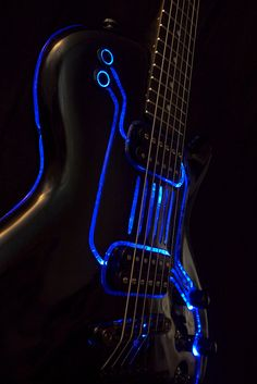 Tron customs guitar build. This would be great to play at a concert