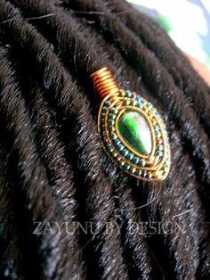 Alluringly timeless wearable art by ZAYUNU on Etsy Diy Loc Jewelry, Dread Jewelry, Dreadlock Jewelry, Dread Beads, Hair Beads, Wire Jewelry, Sisterlocks, Dreadlocks, Hair Cuffs