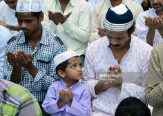 Indian Muslims pray as they gather for Jummat-Ul-Vida prayers on the last Friday of Ramadan at the historic Jama Masjid in New Delhi on August 2, 2013, ahead of the Eid al-Fitr festival. The three-day festival, which begins after the sighting of the new moon, marks the end of the Muslim fasting month of Ramadan, during which devout Muslims abstain from food, drink, smoking and sex from dawn to dusk.