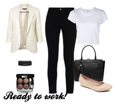 Trabajo by luziagalvang on Polyvore featuring moda, RE/DONE, WithChic, STELLA McCARTNEY, Rockport, Witchery, Bling Jewelry and Chanel