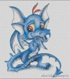 cute blue baby dragon