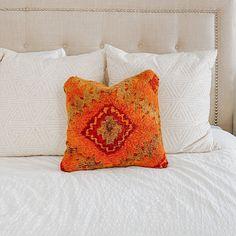 Orange Throw Pillow. Boujad Pillow.- Lucky Collective #LuckyCollective