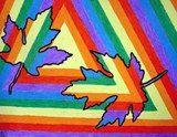 Color Wheel Leaves