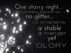 And to witness the glory of God in the form of a newborn baby? Extravagance. Unimaginably, gloriously miraculous.