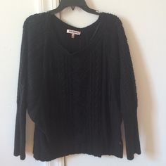 Juicy Couture black sweater Great condition, 30% acrylic, 29% polyamide,25% wool, 16% mohair, very comfy and airy fit Juicy Couture Sweaters Shrugs & Ponchos