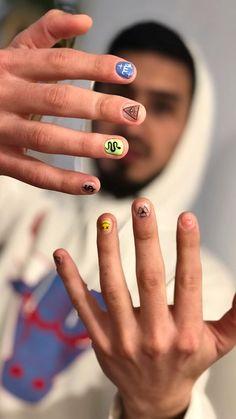 Diy Nails, Swag Nails, Manicure, Androgynous Men, Mens Nails, Warts, Pretty Face, You Nailed It, Nail Designs