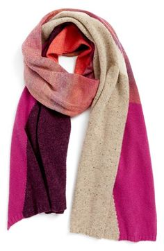 Echo Intarsia Wool Blend Scarf available at #Nordstrom