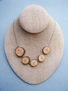 Reclaimed Wood Slice Necklace