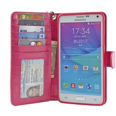 Navor Protective Flip Wallet Case for Samsung Galaxy Note 4