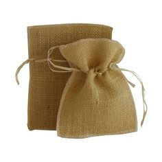 JAM Paper Burlap Pouches, 4 inch x 6 inch, Natural Recycled, Sold Individually, White Unique Party Favors, Burlap Crafts, Burlap Flowers, Paper Envelopes, Natural Brown, Elite Socks, 6 Packs, Burlap Weddings, Recycling
