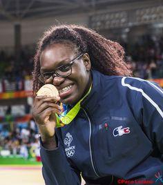 Emilie Andeol championne olympique de judo (+ 78 kg)  aux Jeux Olympiques Rio 2016