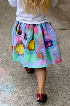 Paint Your Clothes Love this cant wait to do with my Granddaughters,seems like it will be a lot of fun Let you know latter when done