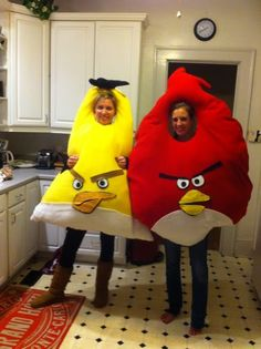 Angry Birds Couples Costume!