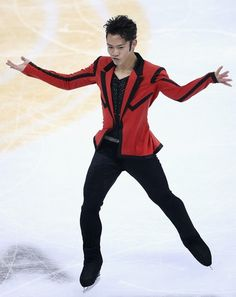 Daisuke Takahashi being the coolest as always. His short program costume at the 2012 Cup of China.