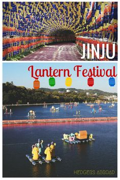 Seoul has a fantastic lantern festival, but don't forget about Jinju's Water Lantern Festival! The giant floating lanterns in the river as well as the ones placed along the fortress are pretty spectacular.