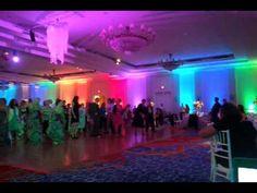 Club-LIke Wedding Reception Lighting -Electric Slide w/Beaded Chandelier