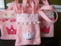 Princess Party  Deluxe Set of six Party bags by BellisimaSofia, $27.00