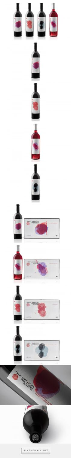 Theopetra Estate - Packaging of the World - Creative Package Design Gallery - http://www.packagingoftheworld.com/2017/07/red-is-new-black.html - created via https://pinthemall.net
