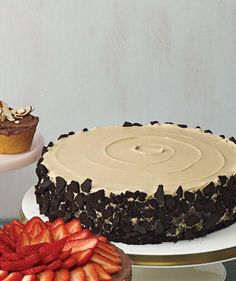 Chocolate Cake With Coffee Frosting and Crushed Cookies recipe recipes with coffee, dessert recipes, bake, layer cakes, crush cooki, chocolate cakes, cookie recipes, cooki recip, cake recipes