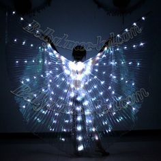 Exotic LED Isis Wings with white transparent organza