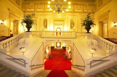 Palais Auersperg, Vienna - We saw a Mozart/ Strauss concert here and it was AMAZING. The violinist had a Stradivarius. Wedding Stairs, Honeymoon Pictures, Places In Europe, Home D, Online Tickets, Microsoft Office, Stairways, Orchestra, Art Deco