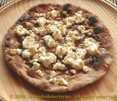 Staititai or Ancient Roman pizza | honey sesame and cheese.  Yummy combination!