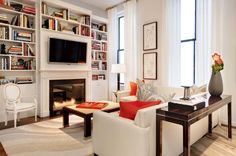 Tribeca Loft - Modern - Living room - Images by Elizabeth Bolognino Interiors | Wayfair