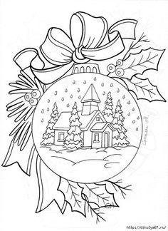 Christmas Coloring Pages - Ornament Christmas Coloring Pages, Coloring Book Pages, Printable Coloring Pages, Christmas Colors, Christmas Art, Christmas Design, Christmas Ornaments, Family Christmas, Embroidery Patterns