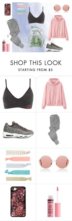 """Fire Fade"" by wild-young-free-thrilled ❤ liked on Polyvore featuring DKNY, NIKE, V::ROOM, Accessorize, Christopher Kane, Chrome Hearts and Charlotte Russe"